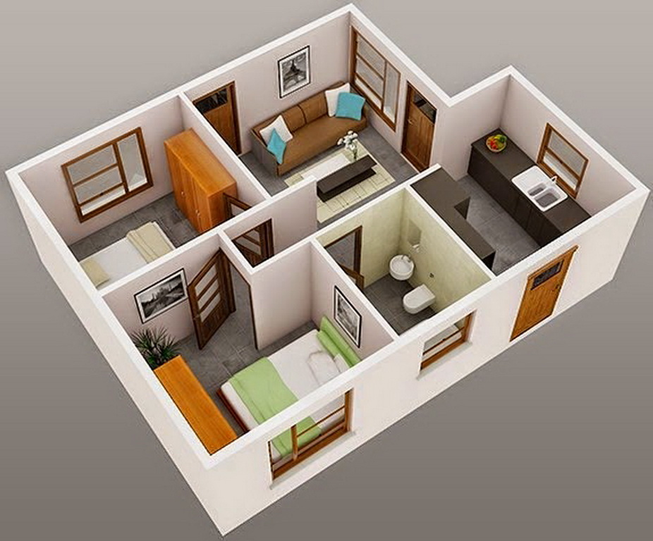 1 Bedroom ApartmentHouse Plans  Interior Design Ideas
