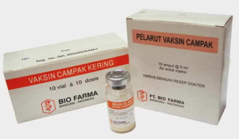 Vaksin campak di Indonesia