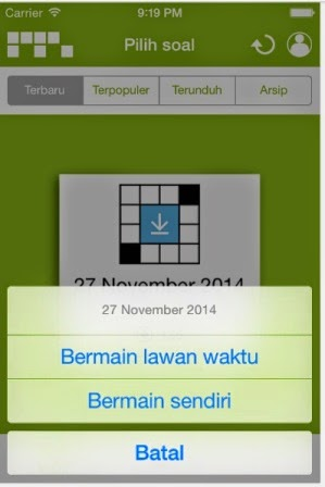 Cara bermain TTS Kompas mobile game
