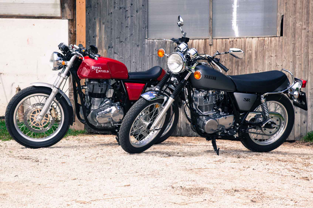 motor royal enfield vs yamaha
