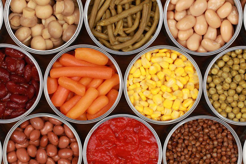 sayur dan buah kalengan