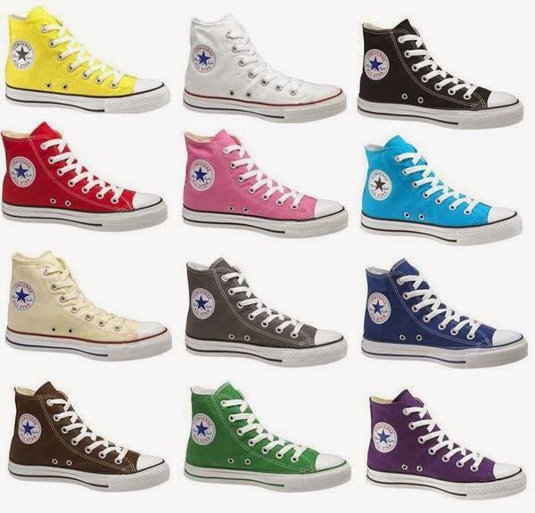 macam-macam warna sepatu converse