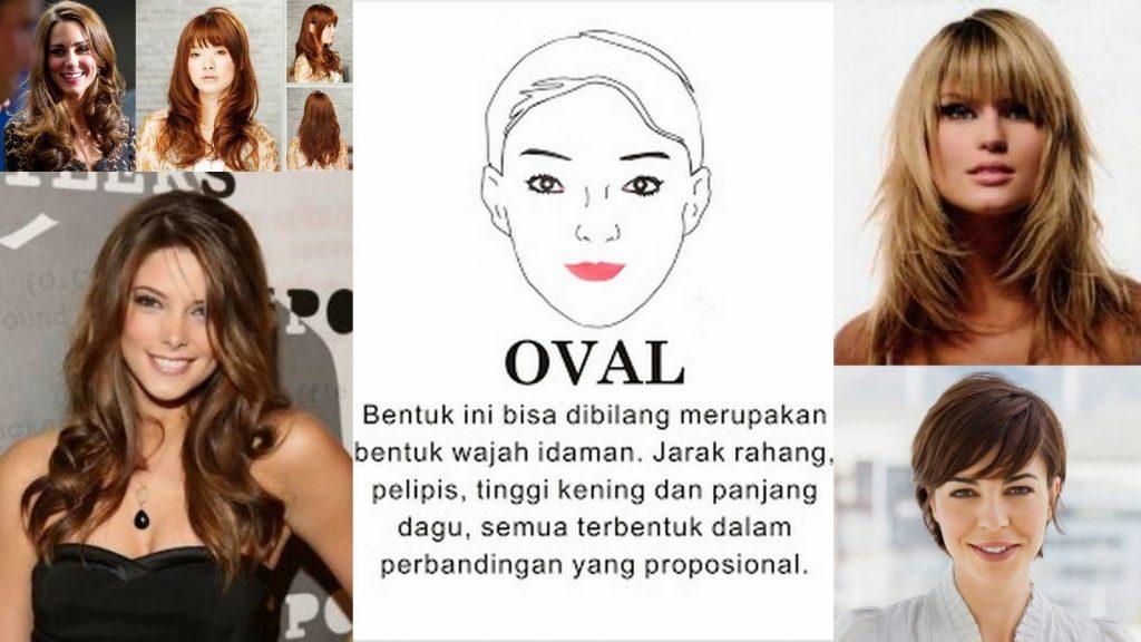 galena bentuk wajah oval